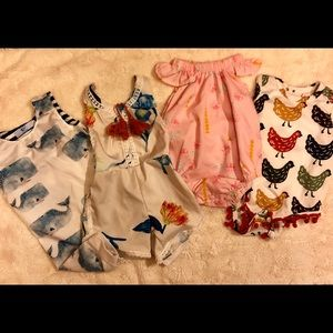 Other - Baby girls 3-6 month botique onesies